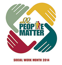 National Social Work Month logo